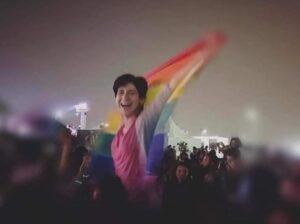 - Amir Magdi Twitter photo of Sarah Hegezi #RaiseTheFlagForSara